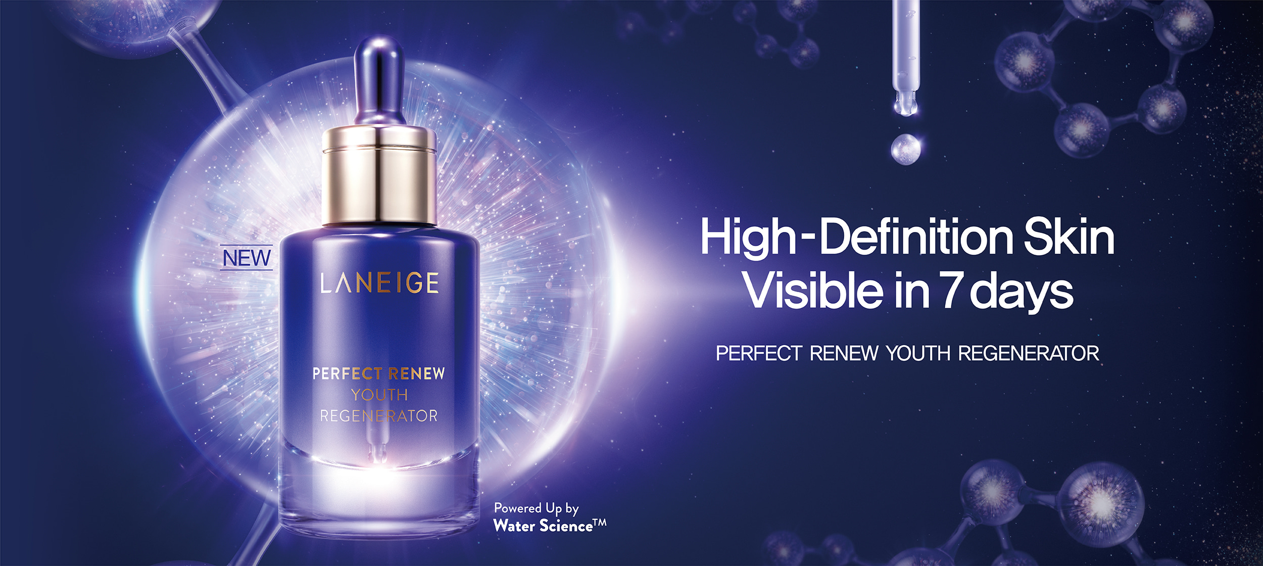 High-Definition Skin Visible in 7 days Wrinkles·Elasticity·Radiance·Moisture·Texture Perfect renew youth regenerator