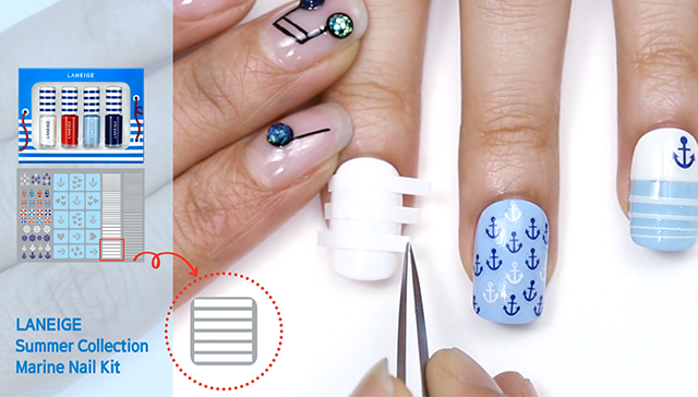use Stripe Nail Tape step1. image