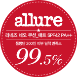 Allure Product Rating Group 200 people Skin Adhesion Satisfaction 99.5%