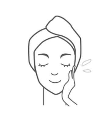 Use at the last stage of your skincare routine. Apply an appropriate amount evenly onto skin.