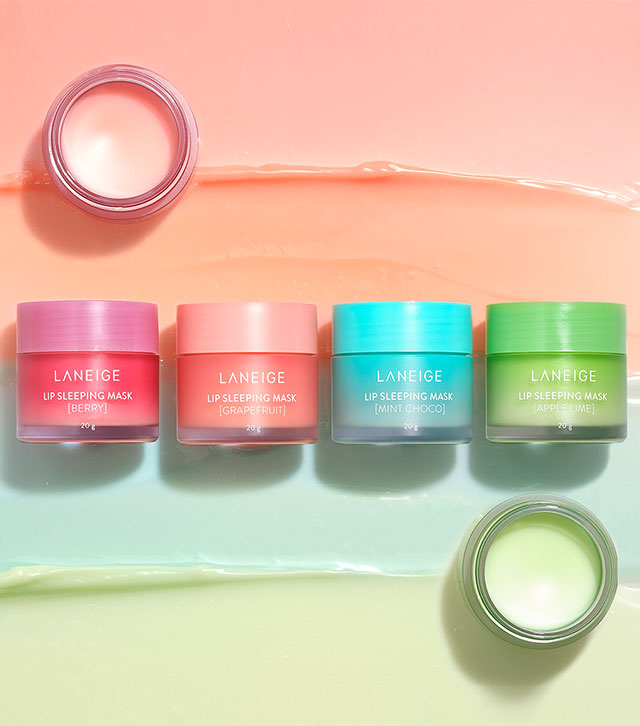 Four different scents of Lip Sleeping Mask