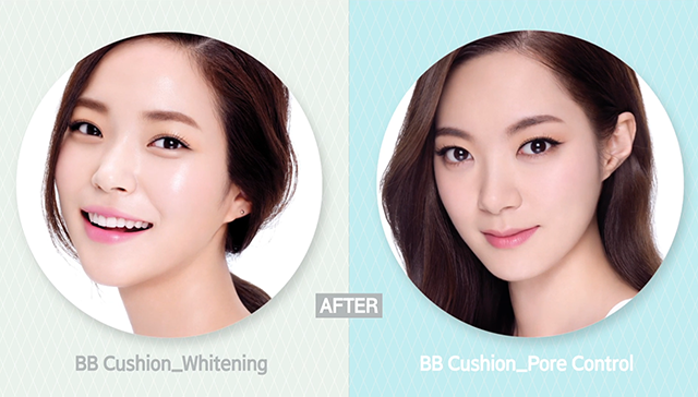 Whitening Cushion vs. Pore Control Cushion image