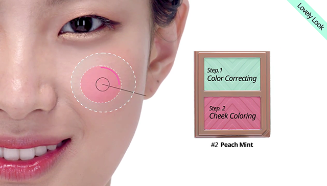 Chic VS  Lovely, 2 way blush makeup step3 image
