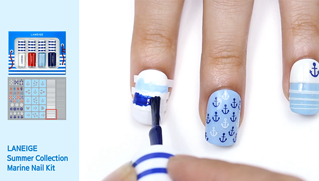 use Stripe Nail Tape step2. image