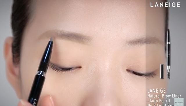 SOKB L53 - Feminine semi-arched eyebrows  STEP3 이미지
